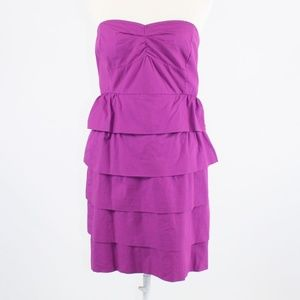 Purple J. CREW  tiered dress 8 NWT $89.50